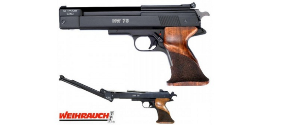 Venha descobrir a fantástica e elegante Pistola Weihrauch HW 75
