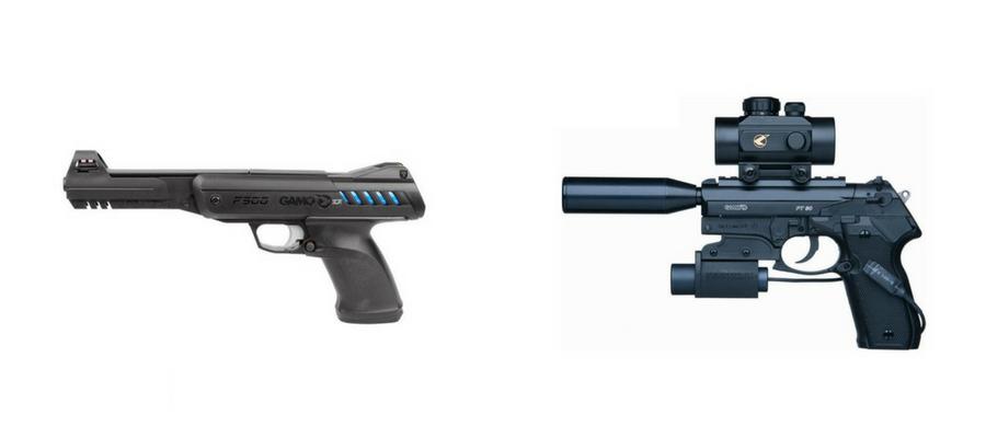 Descubra as pistolas de ar comprimido Gamo