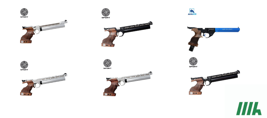 6 Pistolas PCP Steyr Sport para profissionais