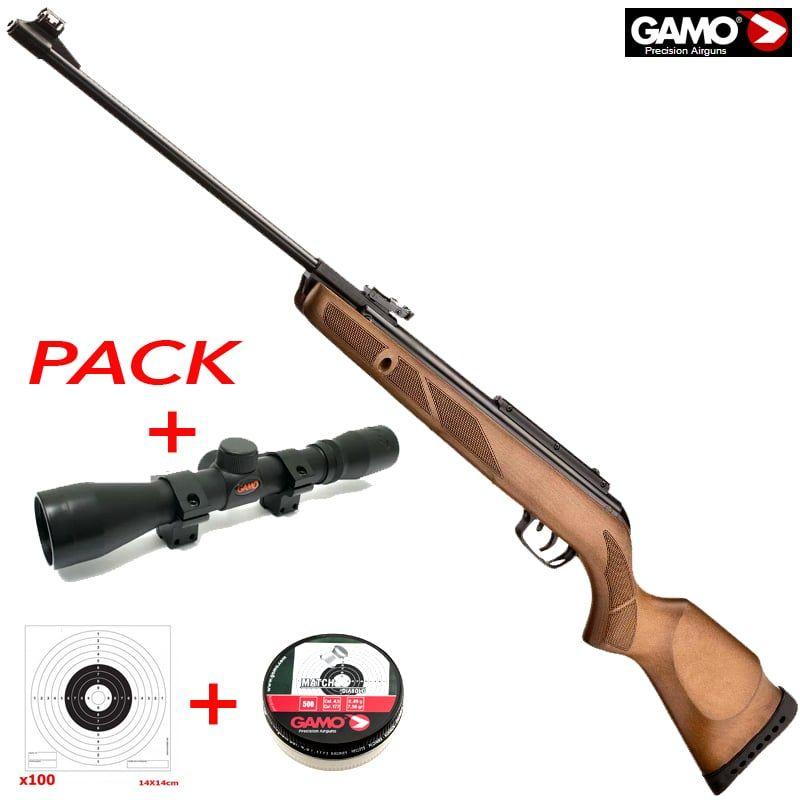 Pack Gamo a não perder: carabina, mira, chumbos e alvos
