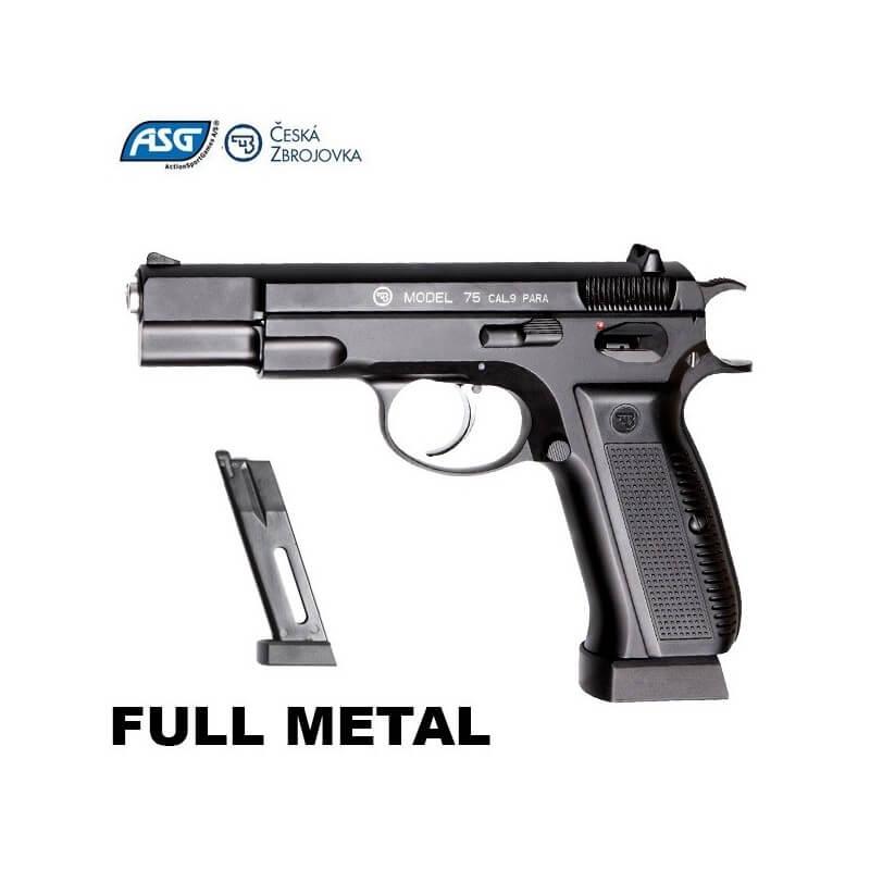Pistola ASG CZ75 com sistema blowback