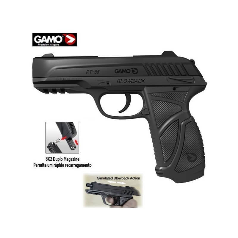 Pistola Co2 Gamo com Sistema Blowback